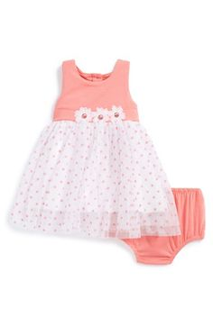 Little Me Polka Dot Tulle Dress & Bloomers (Baby Girls) available at #Nordstrom