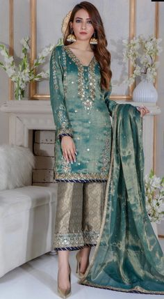 Items similar to Pakistani Indian Ethnic Bollywood Women Designer Salwar kameez luxury pret Wedding outfit latest eid collection on Etsy