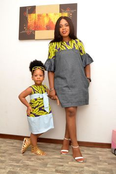Momma and Me African Inspired Dress/ African Fashion/ African Style/ Ankara Girl Dress/ Kiddies Ankara Dress Product Information African Dresses For Kids, Latest African Fashion Dresses, African Print Dresses, African Print Fashion, Africa Fashion, Fashion Prints, Ankara Fashion, Dress Fashion, African Prints