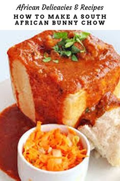 South African Bunny Chow African Food Recipe and the history of the dish as introduced by indentured Indian workers on Natal's Sugar Cane Plantations South African Recipes, Indian Food Recipes, South African Food, Healthy Recipes, Lemon Chicken Tenders Recipe, South African Bunny Chow, Salted Caramel Fudge, Salted Caramels, African Dessert