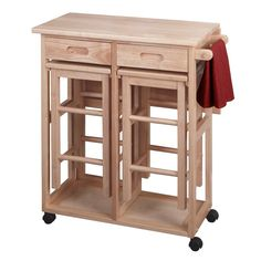 Shop of the Space Saving Drop Leaf Table with Square Stools( by Winsome at Smart Furniture. Small Kitchen Tables, Kitchen Island Table, Kitchen Dining Sets, Kitchen Stools, Dining Room Sets, Kitchen Islands, Dining Area, Table Stools, Square Kitchen