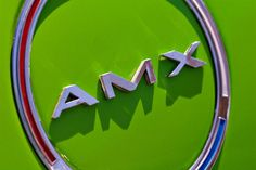 Green AMX Emblem - Lime Green Car Art