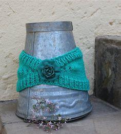 Hippie headband Green ear warmer  Knit ear warmer by KennaInAfrica, $21.50