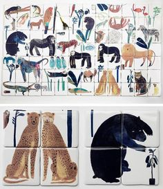 Home Interior Hamptons Animal Tiles By British Designer Laura Carlin Motifs Animal, Shangri La, Tile Patterns, Interior And Exterior, Interior Design, Home Remodeling, Tiles, Illustration Art, Pottery