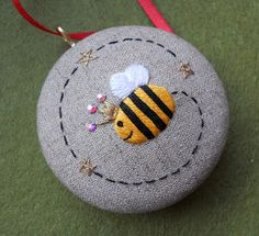 Unique hand embroidery made in England: Meet Snow Bee..