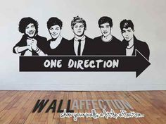 [ 1D ] ONE DIRECTION - WALL DECAL/STICKER - Harry, Zayn, Liam