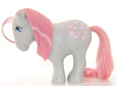 Snuzzle. Collectors pony. Year 1. 1982-83. Year one Snuzzle has flat hooves.