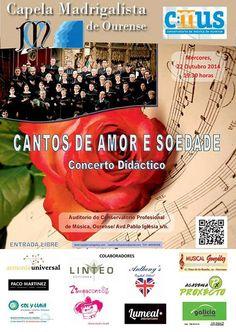Cantos de Amor e Soedade - Capela Madrigalista en Conservatorio Profesional de Música, Ourense music musica concerto concierto