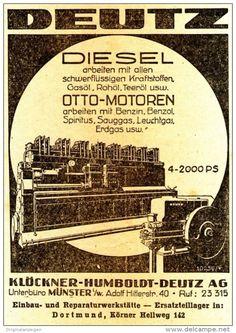 Original-Werbung/ Anzeige 1939 - DEUTZ MOTOREN / KLÖCKNER-HUMBOLDT-DEUTZ…