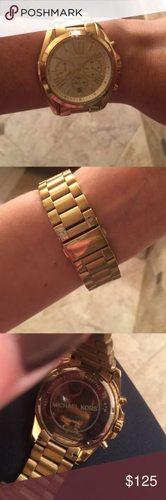 Michael Kors Gold Watch Michael Kors Gold Watch.  Gorgeous and original Michael Kors.  Large enough with current links to take at more if you have a tiny wrist.  Great condition! Michael Kors Accessories Watches
