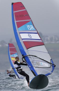 Israel's Zofia Noceti Klepacka competes during the rs:x women race at the London 2012 Summer Olympics, Tuesday, July 31, 2012, in Weymouth and Portland, England.