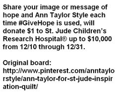 Please share a beautiful message or photo of hope and hashtag it with #GiveHope. Help raise 10.000$ ! Campaign expires on 31 december 2013!