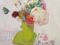 A Bucketful of Summer I  61 x 61 cm  oil on canvas
