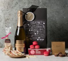 Say Cheers with this stunning Gift Hamper. Send this special gift to your loved ones today and celebrate with them in style! Birthday Hampers, Birthday Gift Baskets, Best Birthday Gifts, Chocolate Sweets, Chocolate Gifts, Wine Hampers, Business Gifts, Business Ideas, Gourmet Baskets