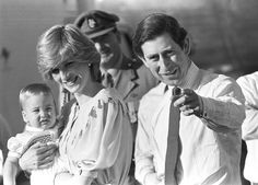 Charles, Diana and William 1983.