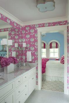 pink bathroom   Martha O'Hara Interiors