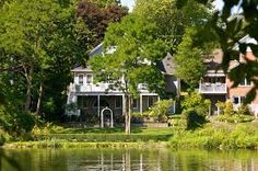 Homes by the river..