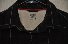 Oshkosh Flannel Boys size 7  plaid button down long sleeved shirt EUC #OshKoshBgosh #Everyday
