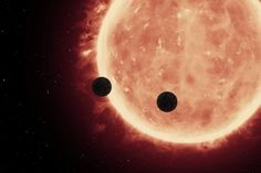 An artist's depiction of planets transiting a red dwarf star in the TRAPPIST-1 System. Credit: NASA/ESA/STScl
