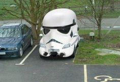 #starwars #stormtrooper #parking #lol #Funny || Follow http://www.pinterest.com/lcottereau/star-wars/