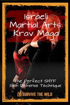 Israeli Martial Arts: Krav Maga – The Perfect SHTF Self Defense Technique - Survive The Wild Krav Maga Self Defense, Self Defense Moves, Self Defense Martial Arts, Krav Maga Techniques, Martial Arts Techniques, Self Defense Techniques, Boxing Training, Boxing Workout, Fitness Exercises