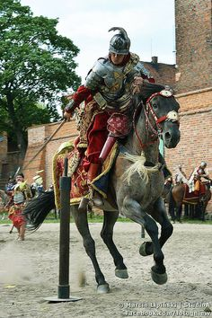 Polish heavy hussar, 17th century, Gniew, Poland.