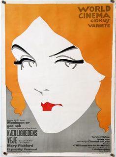 Lauritz.com - Grafik - Sven Brasch. Vintage dansk filmplakat samt original skitse til 'Kærlighedens Veje' (USA 'Hearts Adrift 1914. Dansk 1919) (2) - DK, Helsingør, Støberivej