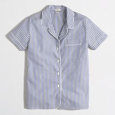 J.Crew+Factory+-+Factory+short-sleeve+pajama+shirt+in+stripe