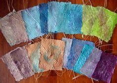 Hannie's- Quilts en Art-Textiel Welkom op mijn blog: Dagje papier scheppen.
