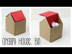 Origami Trash Bin Tutorial - DIY - YouTube