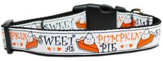 Collar Planet - Pumpkin Pie Adjustable Nylon Dog Collar (http://www.collarplanetonline.com/pumpkin-pie-adjustable-nylon-dog-collar/) Perfect at Thanksgiving for your four legged kids. A delightful dog collar with a high quality ribbon overlay of the Pumpkin Pie pattern on a durable nylon base