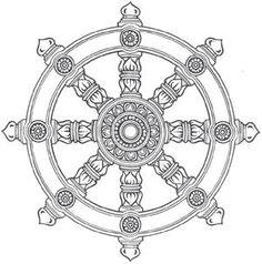 dharma wheel of life Rad Tattoo, Love Tattoos, Tatoos, Tiger Tattoo, Dharma Rad, Dharma Wheel, Buddhism Tattoo, Buddhism Symbols, Wheel Tattoo