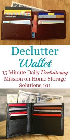 How To Declutter Wallet Keep It That Way Paper Organizationhome