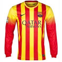 Camiseta del Barcelona manga larga Lejos 2013-2014 para más de 300 € ahorro 20% http://www.camisetasdefutbolbaratasdhl.es/camiseta-del-barcelona-manga-larga-lejos-20132014-p-96.html