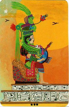 The Matriarch opened the magic door (Xultun Tarot by Peter Balin) Sacred Art Tattoo, Online Tarot, Oracle Tarot, The Empress, Major Arcana, Tarot Decks, Tarot Cards, Occult, Red Hats
