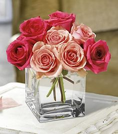 Really love square vases for center pieces.