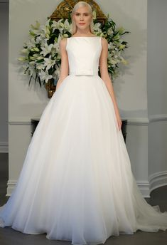 Bow-Detail A-Line Wedding Dress | Romona Kaveza LEGENDS Fall 2015 | blog.theknot.com