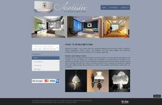 Project Name: Artistic - It's all about light & shade Website: www.artistichandicraft.biz Design Package: Corporate Blue Price: BDT 8,500.00