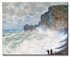 MU_MN2039 _ t_Monet _ Rough weather at Etretat / Cuadro Paisaje, Temporal en Etretat