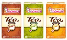 Dunkin Donuts revised tea packaging
