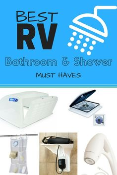A list of the top must have bathroom gear & gadgets for full-time RV living.