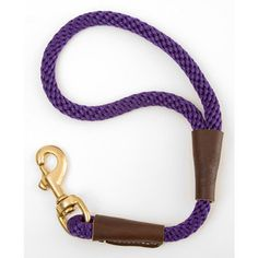 PURPLE MENDOTA 16 INCH ROPE TRAFFIC LEAD - BD Luxe Dogs & Supplies