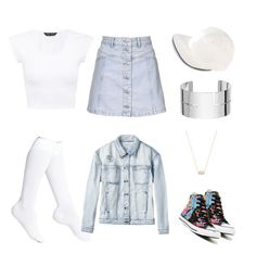 """""""Denim"""" by abandele on Polyvore featuring Topshop, Nordstrom, RVCA, Converse, adidas, Dinh Van and Kendra Scott"""