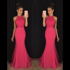 Halter Blush Pink Mermaid Evening Prom Dresses, 2017 Long Party Prom Dress, Custom Long Prom Dresses, Cheap Formal Prom Dresses, 17063 The Halter Blush Pink Mermaid Evening Prom Dresses are fully lined, 8 bones in the bodice, chest pad in the bust, lace up back or zipper back are all available, tota