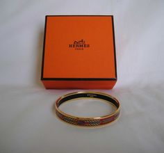 AUTHENTIC Pre Owned Hermes Narrow Cloisonne Bangle by louisfanatic