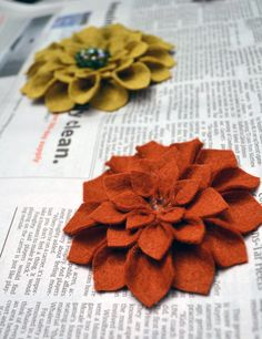 felt flowers diy | Turn that puppy back around. Now it's time to accessorize! We tried ...