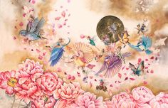 Discover Kerry Darlington's secret world - & meet the fairies! 'Flying Home' is one of Kerry's new Unique Editions! https://wyecliffe.com/collections/kerry-darlington-art/products/flying-home-kerry-darlington