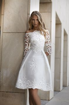 Maria Coca · 2016 · Spring Summer Collections Lace Wedding Dress, Bridal Wedding Dresses, Cheap Wedding Dress, Older Bride Dresses, Boho Dress, Lace Dress, Cheap Dresses, Beautiful Outfits, Vintage Dresses
