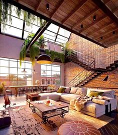 Urban Industrial Decor To A Stunning Place Wohnen im I. - Urban Industrial Decor To A Stunning Place Wohnen im Industrial Chic! Industrial House, Industrial Interiors, Industrial Interior Design, Urban Industrial, Industrial Loft Apartment, Industrial Style, Urban Interior Design, Industrial Living Rooms, Modern Loft Apartment