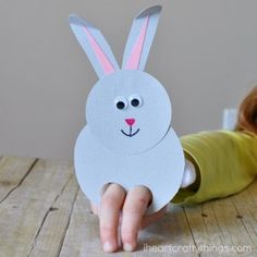 Easter Kids Craft: Some Bunny Loves You Card Egg Crafts, Bunny Crafts, Fun Crafts For Kids, Easter Crafts For Kids, Cute Crafts, Craft Stick Crafts, Crafts To Do, Bunny Book, Bunny Bunny